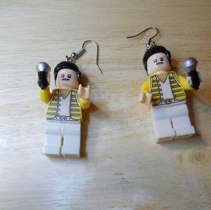Freddy Mercury Toy Earrings